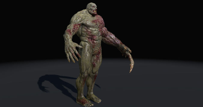 monster enforcer 3d model low-poly rigged fbx ma mb unitypackage prefab 1