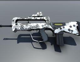 Famas G2 Bullpup Action Rifle 3D model