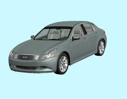 3D infinity 2009 sedan