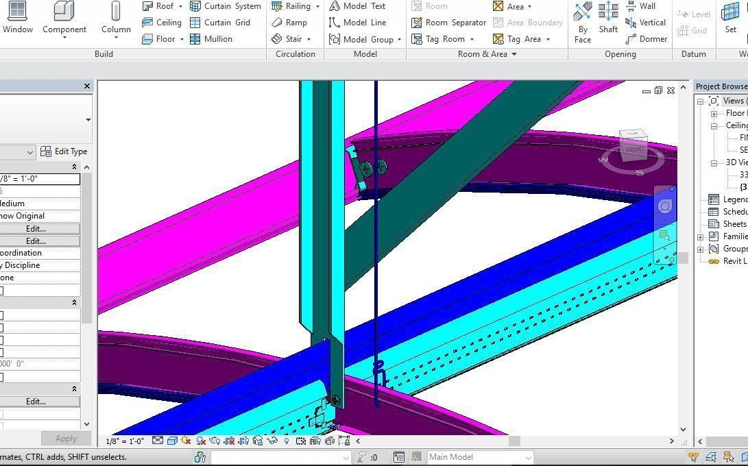 Ceiling Revit Model Shop Drawing Full Details | 3D model