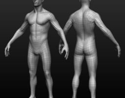 Base mesh male body 3D model