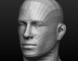 Base mesh male and female body 3D asset