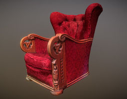 3D scaned photorealistic armchair realtime