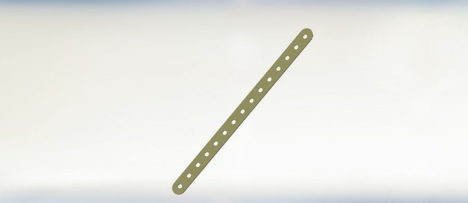 Metal strip with holes