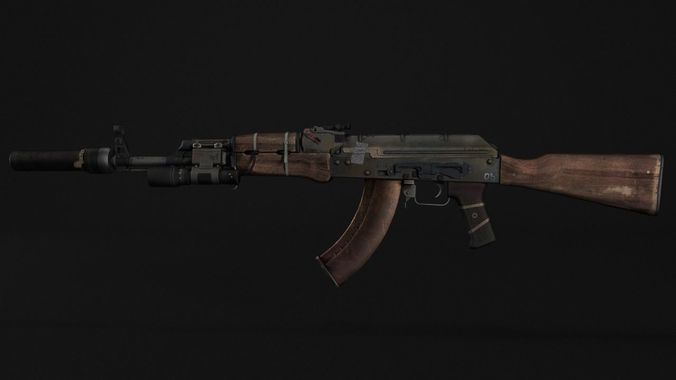 AK - 47 Assault Rifle | 3D model