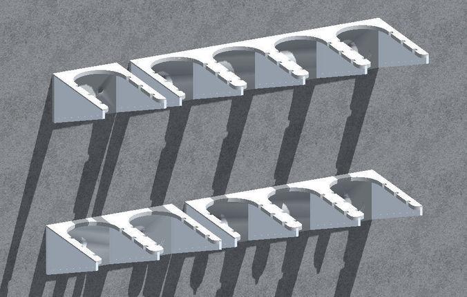 wall bracket - 3d model stl 1