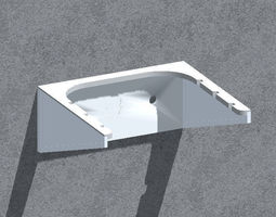 3D printable model box Wall bracket -