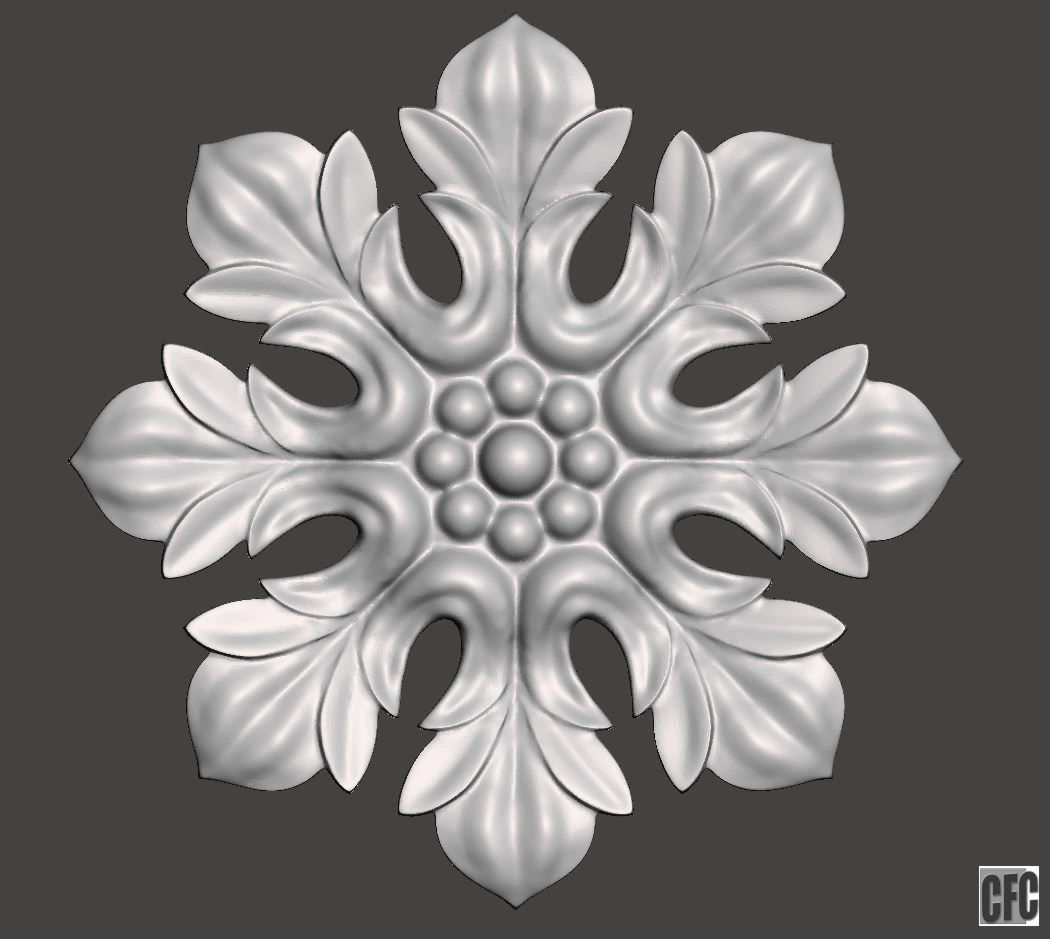 Flower Relief For Cnc And 3d Printing FLCFC0C