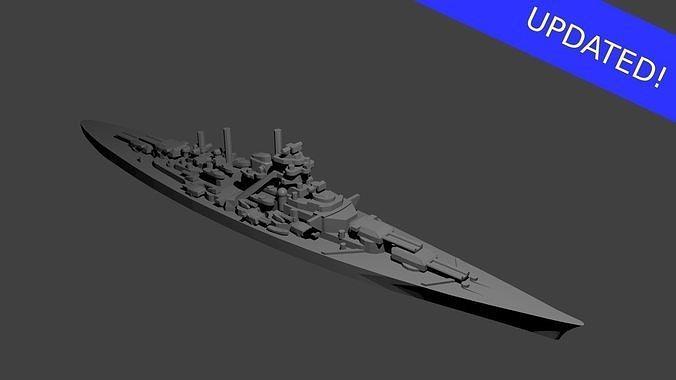 German Bismarck Class Battleship