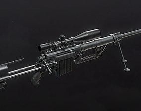 3D model rigged CheyTac M200 Intervention Sniper Rifle