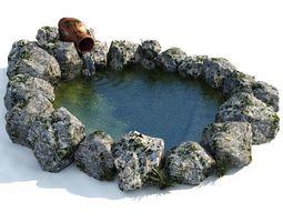 Decorative garden pond 3D