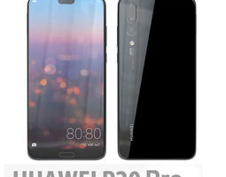 Huawei P20 Pro Midnight Black 3D model