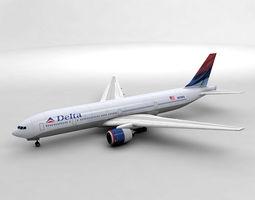 3D model Boeing 777 Airliner - Delta Airlines