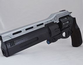 3D print model First Curse hand cannon prop with moving 2