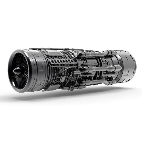 aircraft engine 3d model max obj mtl fbx 1