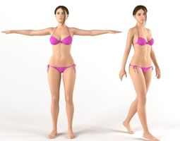 Female bikini 3D model