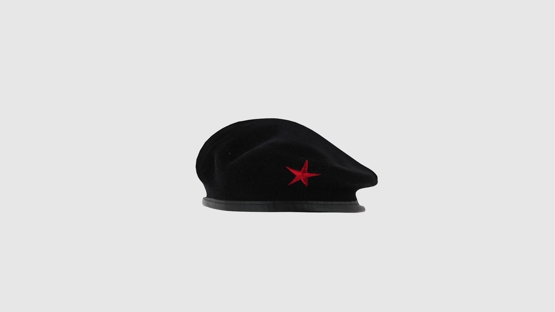 98b11242e19 ... che guevara red star beret cap 3d model low-poly obj mtl fbx stl blend  ...