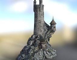 3D asset Wizards Tower in fbx format