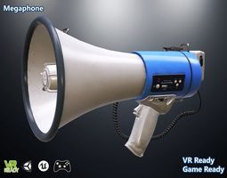 3D asset Megaphone Optimized
