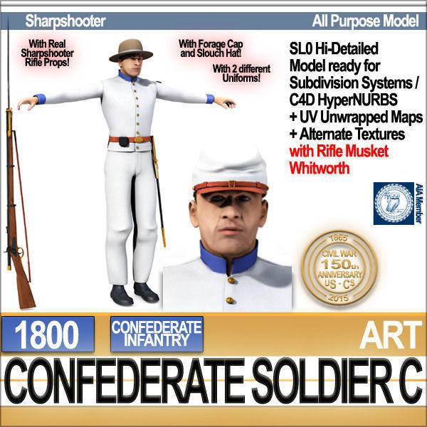 Civil War Confederate Soldier C Infantry Sharpshooter