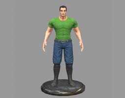3D asset Gangster Man
