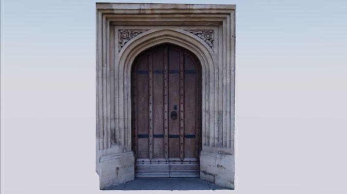 photogrammetry church side-door 3d model obj fbx stl blend 1