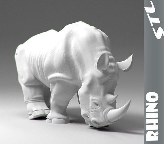 rhino stl 3d model obj stl 1
