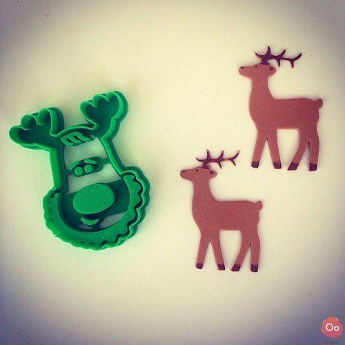 rudolph the reindeer cookie cutter 3d model stl 1