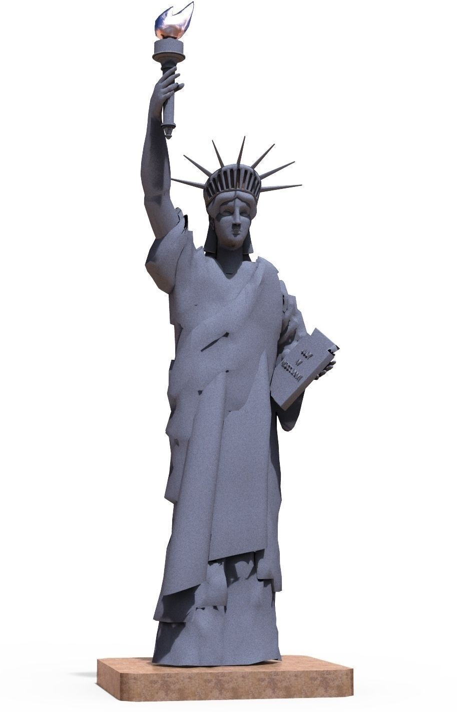 3d model statue of liberty cgtrader