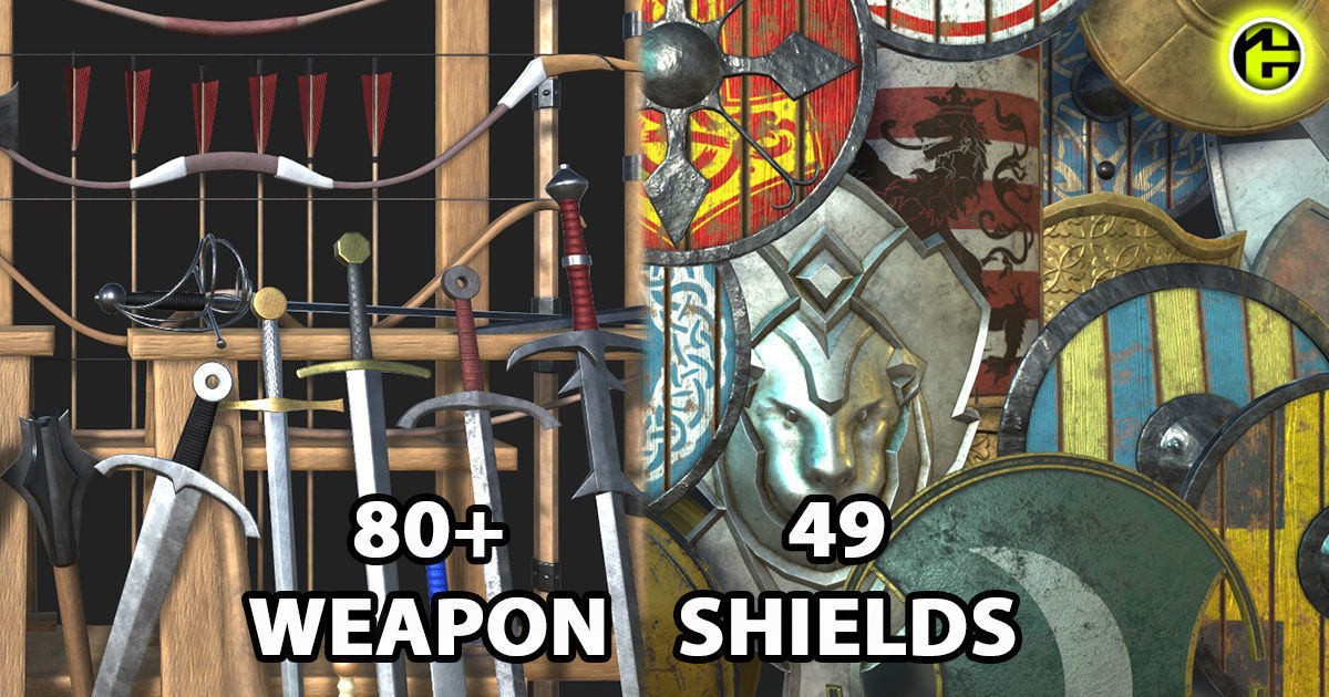 Medieval Weapons and Shields Bundle