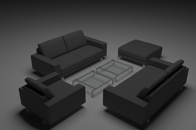 Grey Sofa Set 3D | CGTrader