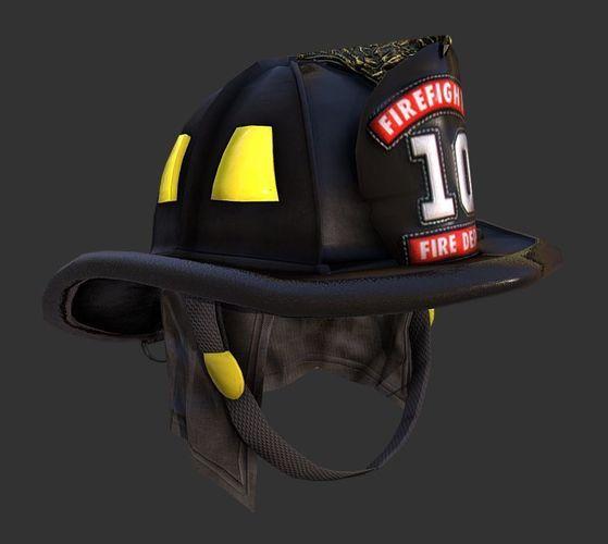 firefighter fireman helmet gear 3d model low-poly obj mtl fbx 1