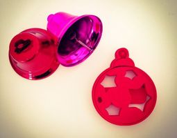 christmas ball ornament  cookie cutter   3d printable model