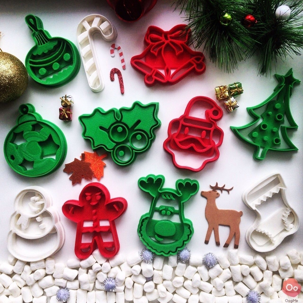Christmas Ball Ornament Cookie Cutter Free 3D Model 3D