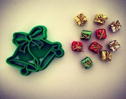 3D print model Christmas Bells Cookie Cutter