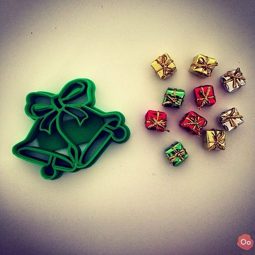 christmas bells cookie cutter 3d model stl 1