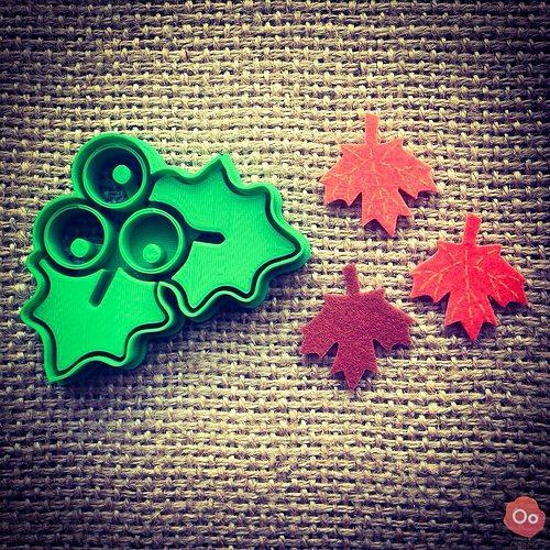 mistletoe cookie cutter 3d model stl 1