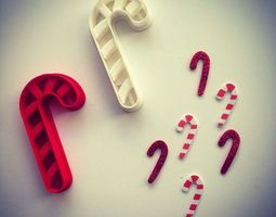candy cane cookie cutter 3d printable model