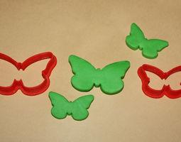 3D print model TWO BUTTERFLIES - COOKIE CUTTER