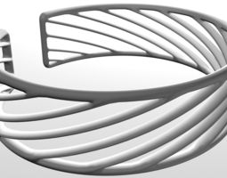 twisted cuff bracelet 3d printable model