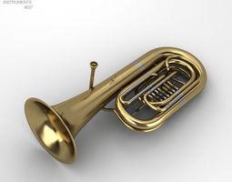 Tuba Instrument 3D model