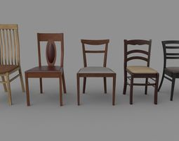 3D model Chairs set