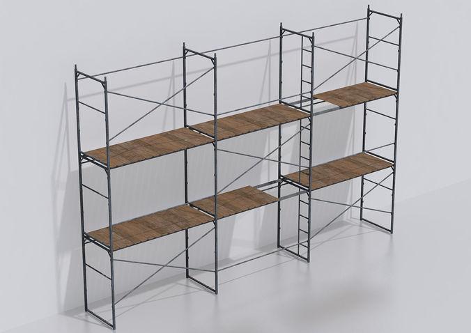 scaffold set 3d model max obj mtl 3ds fbx 1