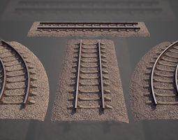 roadway 3D models Railway