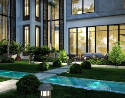 3D model Modern Exterior Villa Design