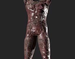 Armour suit damaged 3D asset