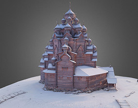 Wooden Russian Orthodox Church 3D model saint-petersburg