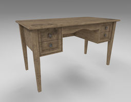 Old table interior 3D