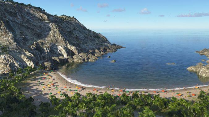 sandy bay in terragen 3d model obj mtl tgo 1