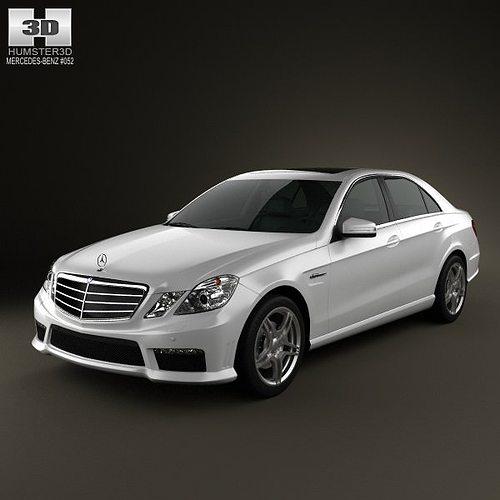 Mercedes benz e63 amg w212 sedan 2010 3d model cgtrader for Mercedes benz sedan models